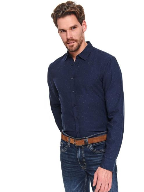 TOP SECRET  koszula długi rękaw  męska regular fit SKL2991 Рубашка Темносиний оптом
