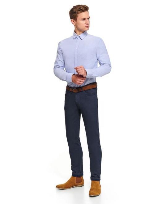 TOP SECRET  koszula oxfordowa regularna SKL2994 Рубашка Голубой оптом