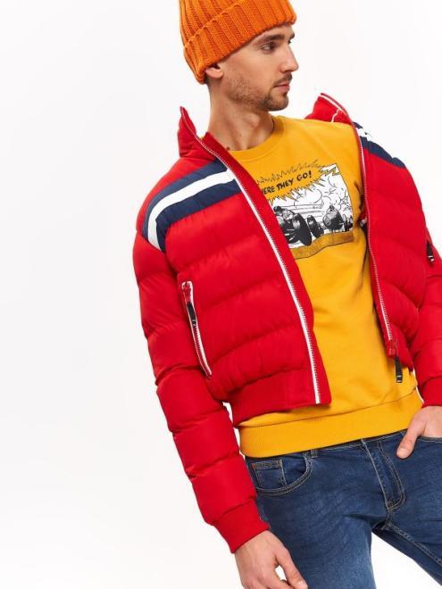 TOP SECRET  kurtka krótka ze stójką SKU0982 Куртка Красный оптом