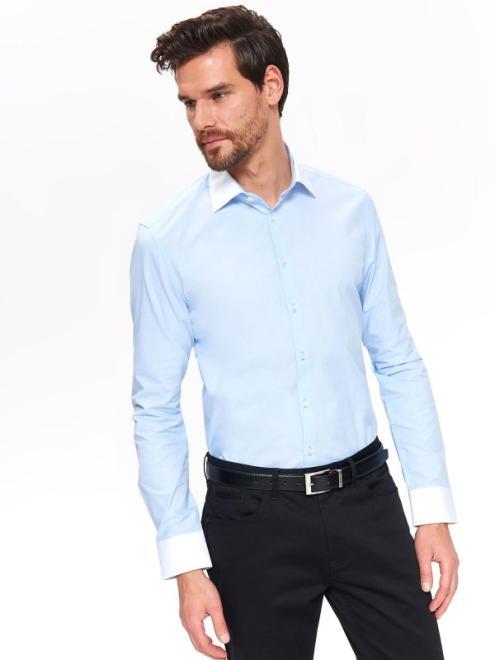TOP SECRET  Koszula wizytowa o kroju slim SKL2772 Рубашка Голубой оптом