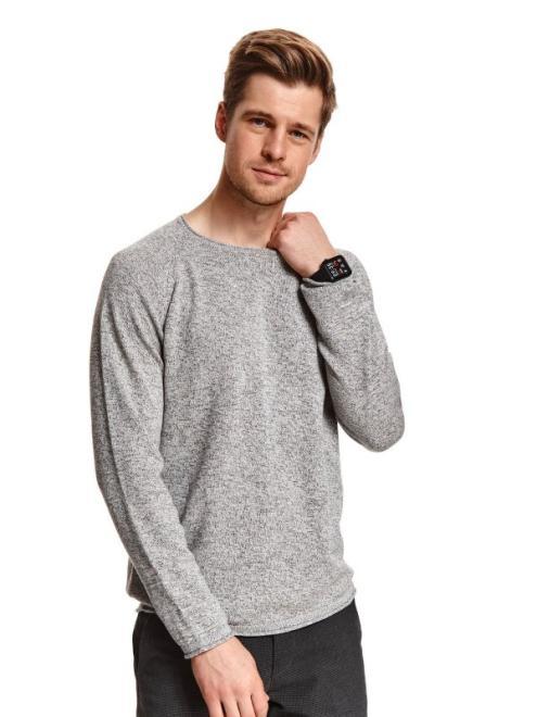 TOP SECRET  sweter długi rękaw męski  SSW3120 Свитер Серый оптом