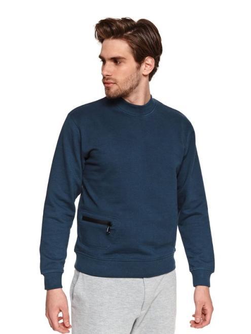 TOP SECRET  bluza z kieszenią SBL0872 Блуза Темносиний оптом