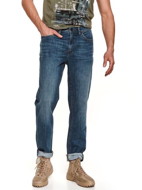TOP SECRET  spodnie denim o kroju regular SSP3698 Брюки Голубой оптом