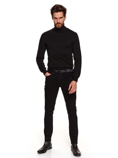 TOP SECRET  spodnie długie męskie 5pocket, slim SSP3697 Брюки Черный оптом
