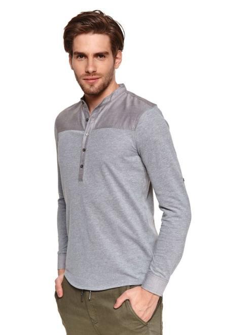 TOP SECRET  koszula z łączonych materiałów SKL3219 Рубашка Хаки оптом