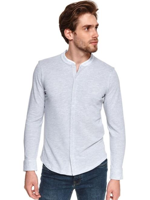TOP SECRET  koszula długi rękaw  męska slim fit SKL3220 Рубашка Светлосерый оптом
