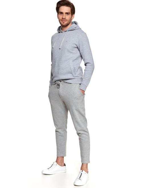 TOP SECRET  spodnie dzianinowe typu jogger SSP3776 Брюки Серый оптом