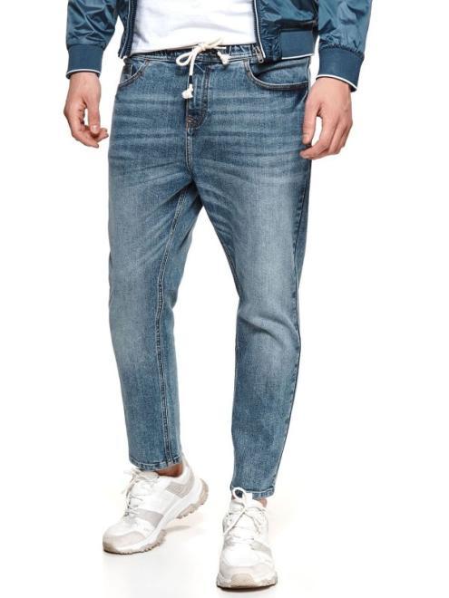 TOP SECRET  spodnie denim typu jogger SSP3718 Брюки Голубой оптом
