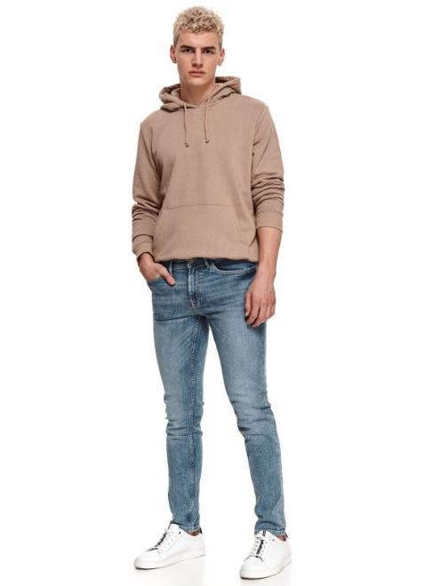 TOP SECRET  spodnie denim oprane SSP3715 Брюки Голубой оптом