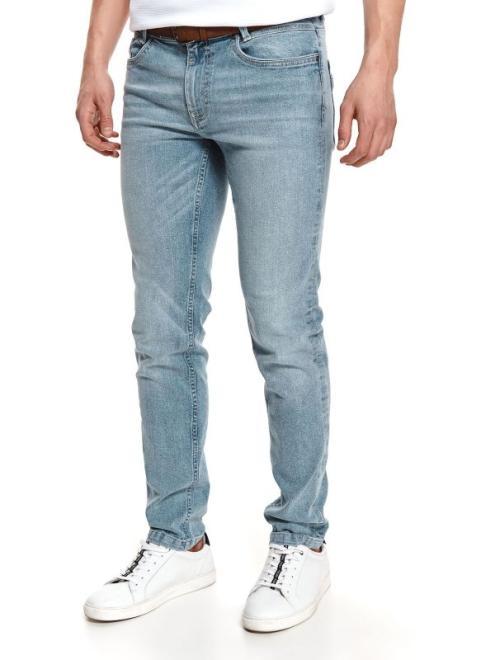 TOP SECRET  spodnie denim z paskiem SSP3717 Брюки Голубой оптом