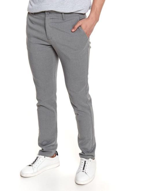 TOP SECRET  spodnie z tkaniny strukturalnej SSP3738 Брюки Серый оптом