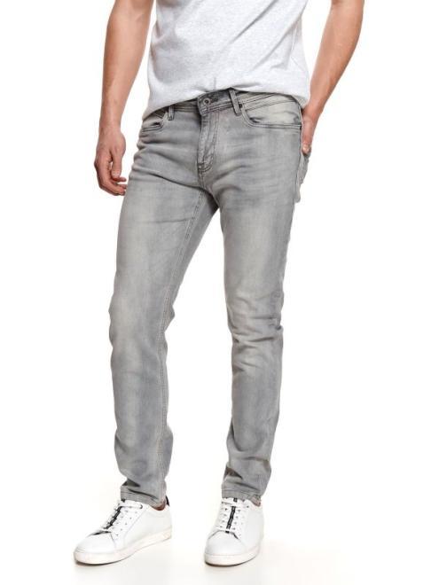 TOP SECRET  spodnie z jasnego denimu SSP3760 Брюки Серый оптом