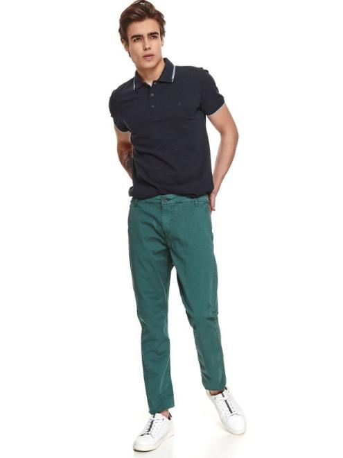 TOP SECRET  spodnie gładkie typu chino SSP3797 Брюки Темнозеленый оптом