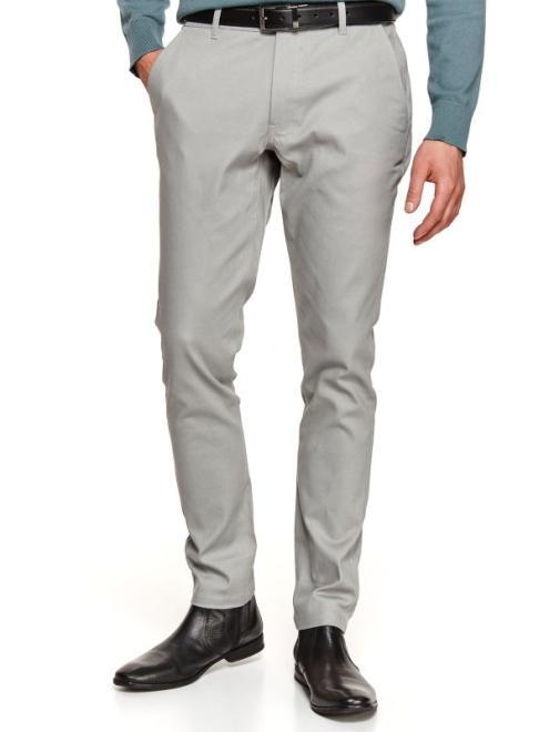 TOP SECRET  spodnie długie męskie chino, slim SSP3710 Брюки Серый оптом