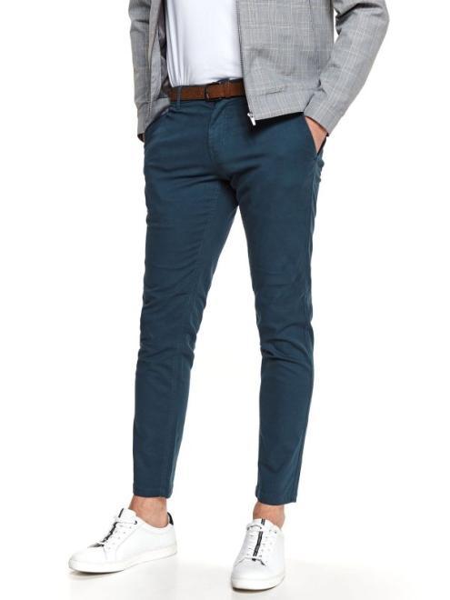 TOP SECRET  spodnie długie męskie chino, slim SSP3737 Брюки Темносиний оптом