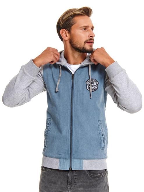 TOP SECRET  kurtka krótka męska bawełniana, jeansowa SKU1187 Куртка Голубой оптом