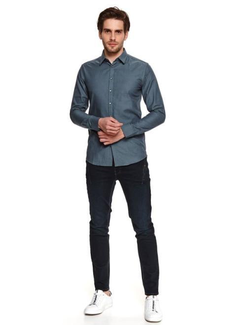 TOP SECRET  koszula z tkaniny oxford SKL3213 Рубашка Зеленый оптом