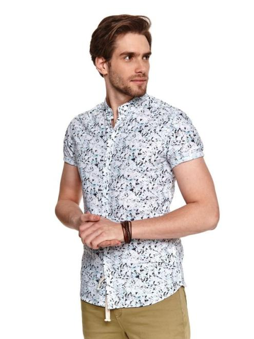 TOP SECRET  cienka koszula w nadruk SKS1159 Рубашка Белый оптом