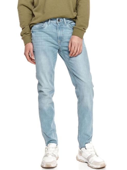 TOP SECRET  Spodnie jeansowe męskie SSP3779 Брюки Голубой оптом
