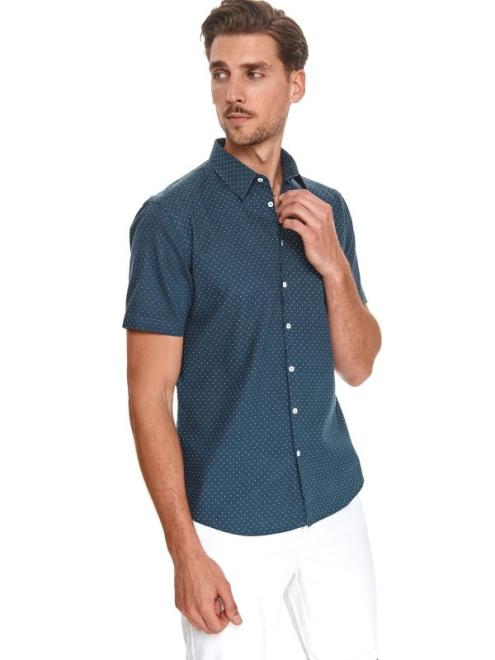 TOP SECRET  koszula krótki rękaw  męska shaped fit SKS1161 Рубашка Темносиний оптом