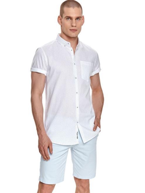 TOP SECRET  koszula krótki rękaw  męska regular fit SKS1177 Рубашка Белый оптом