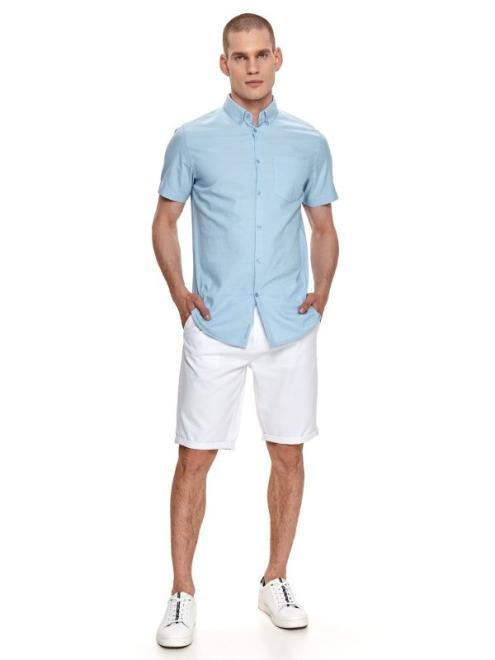 TOP SECRET  koszula krótki rękaw  męska regular fit SKS1178 Рубашка Голубой оптом