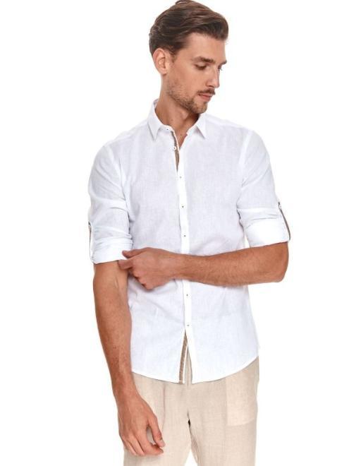 TOP SECRET  koszula długi rękaw  męska shaped fit SKL3227 Рубашка Белый оптом