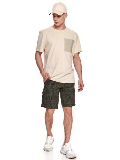 TOP SECRET  t-shirt strukturalny z kieszenią SPO5055 Майка Белый оптом