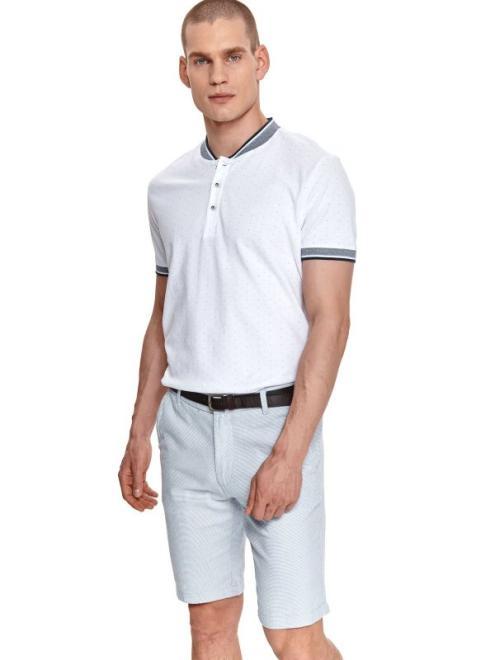 TOP SECRET  t-shirt polo męski w kropki, z haftem, we wzory, z nadrukiem, z printem SKP0556 Майка Белый оптом