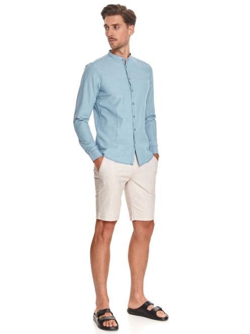 TOP SECRET  koszula z lnem SKL3222 Рубашка Голубой оптом
