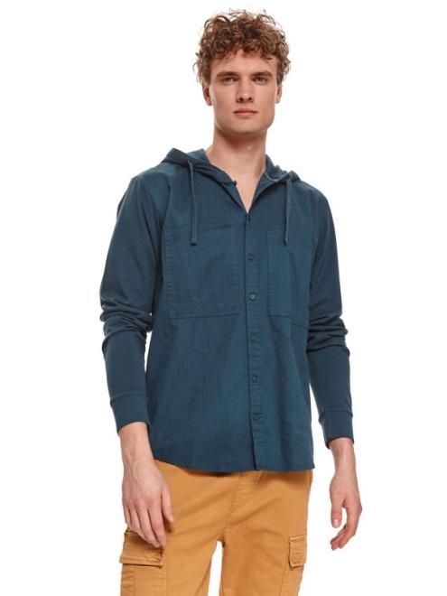 TOP SECRET  bluza z łączonych materiałów SBL0938 Блуза Темносиний оптом