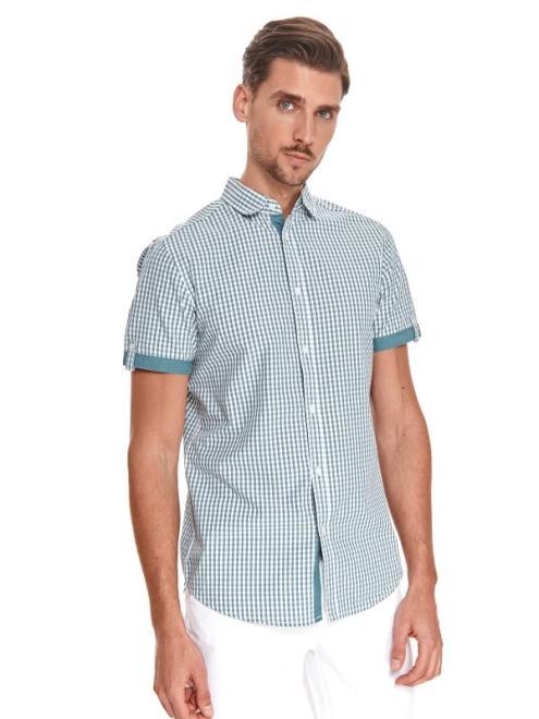 TOP SECRET  koszula w kratkę SKS1173 Рубашка Зеленый оптом