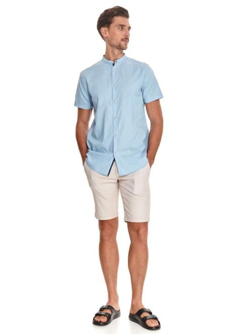 TOP SECRET  koszula ze stójką SKS1170 Рубашка Голубой оптом