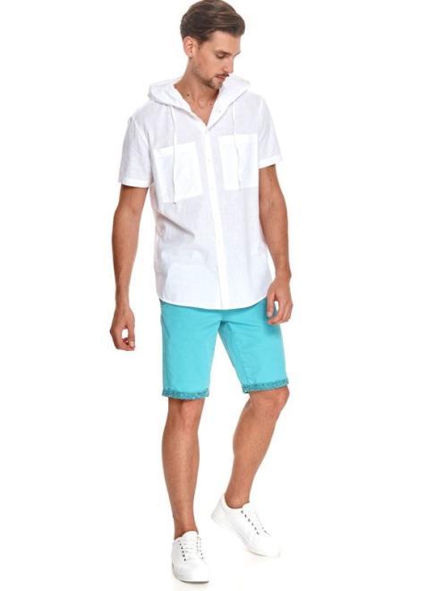 TOP SECRET  koszula z lekkiej tkaniny z kapturem SKS1183 Рубашка Белый оптом