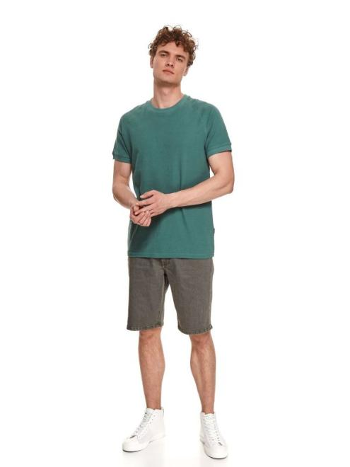 TOP SECRET  t-shirt strukturalny SPO5127 Майка Зеленый оптом