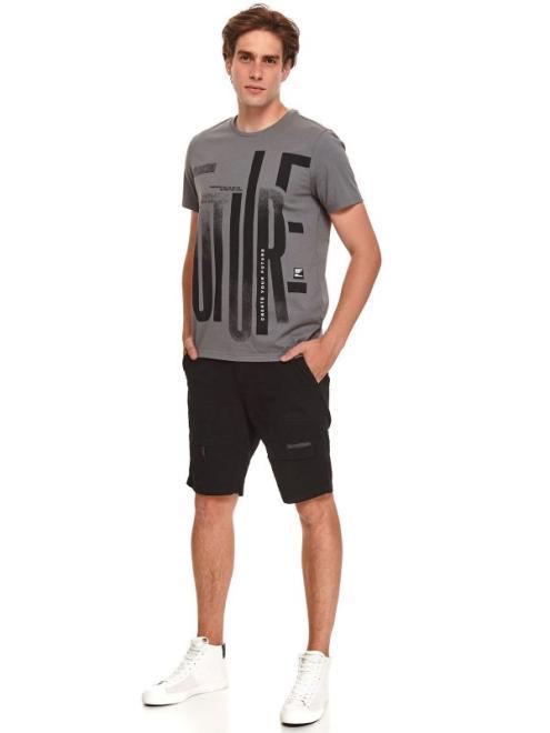 TOP SECRET  t-shirt z nadrukiem SPO5283 Майка Серый оптом