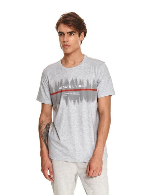 TOP SECRET  t-shirt z nadrukiem SPO5272 Майка Светлосерый оптом