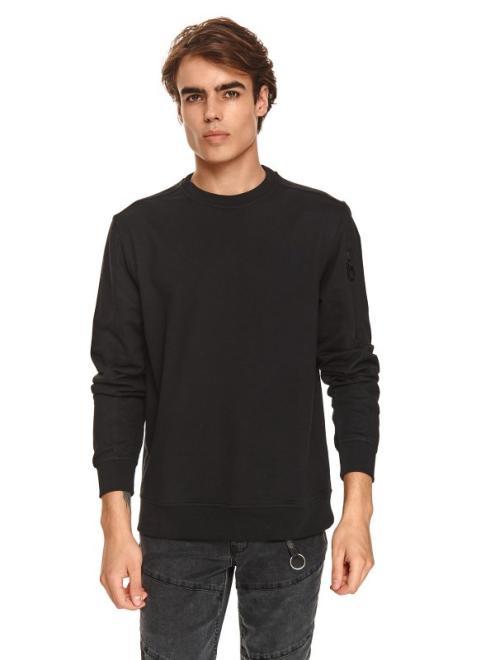 TOP SECRET  bluza nierozpinana z suwakami SBL0962 Блуза Черный оптом
