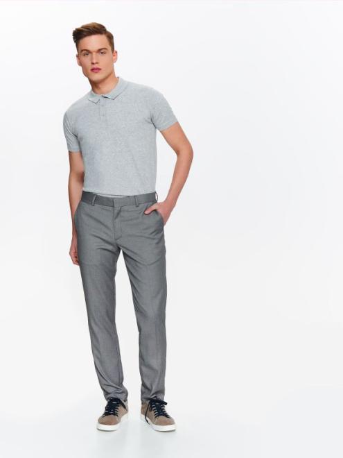 TOP SECRET  spodnie męskie eleganckie od garnituru ze strukturalnej tkaniny SSP2789 Брюки Серый оптом