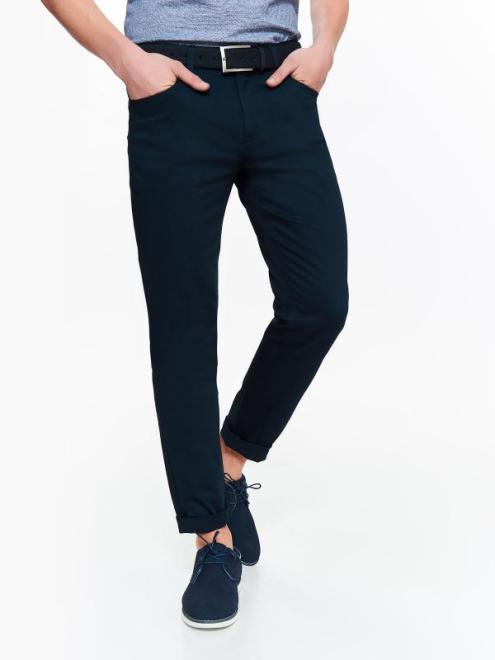 TOP SECRET  spodnie męskie z tkaniny premium o kroju slim SSP2763 Брюки Темносиний оптом