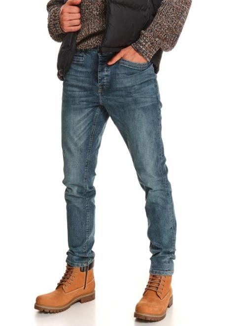 TOP SECRET  spodnie denimowe z lekkim opraniem SSP3932 Брюки Голубой оптом