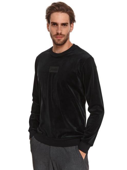 TOP SECRET  miękka bluza z weluru SBL1053 Блуза czarna оптом