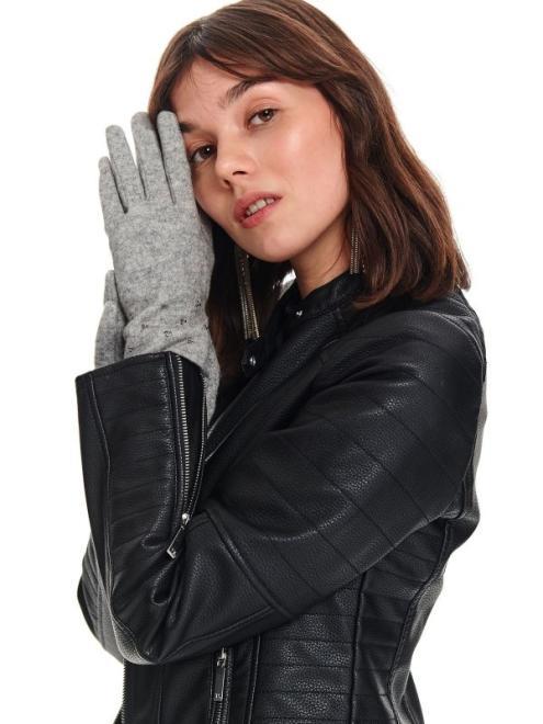 TOP SECRET  rękawiczki standardowe damskie SRE0293 Перчатки Серый оптом