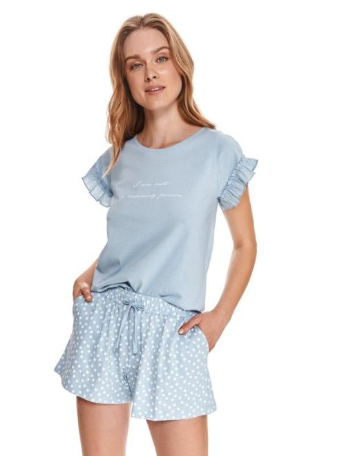 TOP SECRET  Dwuczęściowa piżama damska z szortami SPY0031 Белье Голубой оптом