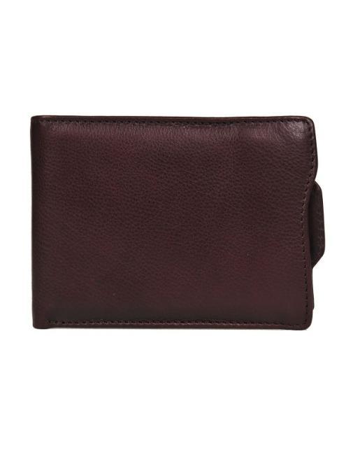 TOP SECRET  portfel skórzany w pudełku prezentowym SWA0157 Бумажник Коричневый оптом