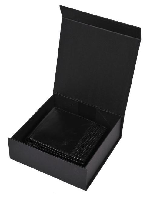 TOP SECRET  portfel skórzany w pudełku prezentowym SWA0156 Бумажник Черный оптом