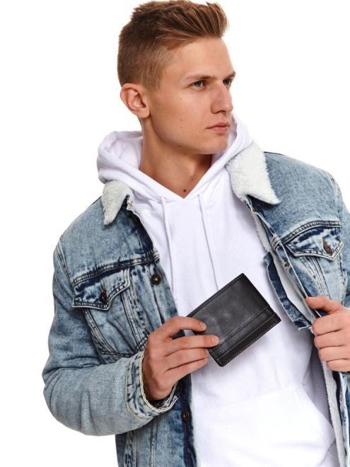 TOP SECRET  klasyczny skórzany portfel SWA0162 Бумажник Черный оптом