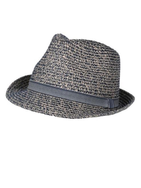 TOP SECRET  słomkowy kapelusz męski SCZ0497 Шапка Темносиний оптом