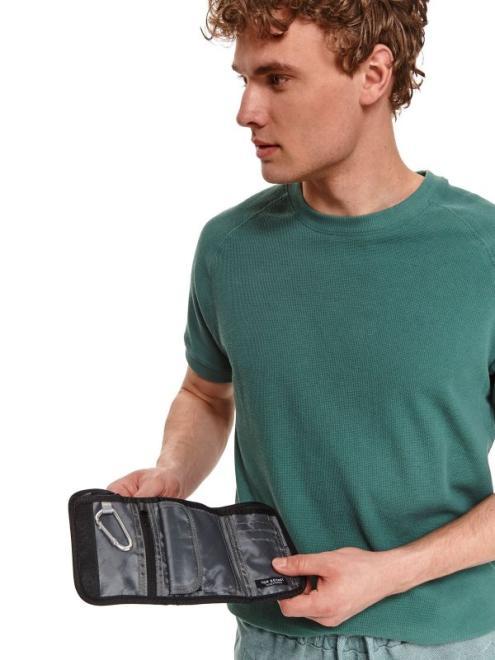 TOP SECRET  materiałowy portfel na rzep SWA0163 Бумажник Черный оптом