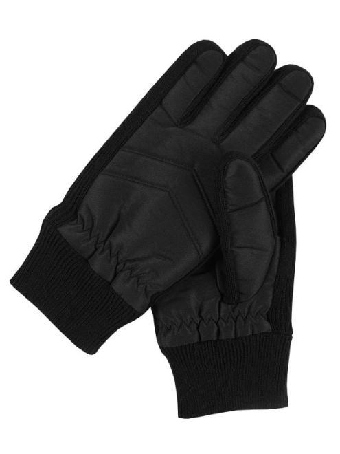 TOP SECRET  rękawiczki z łączonych metariałów SRE0339 Перчатки Черный оптом